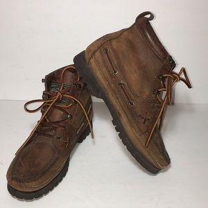 Ralph Lauren Polo Country Leather Boots Vintage